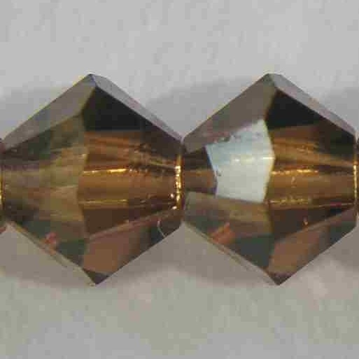 Perle Toupie Cristal Swarovski 5301 4mm light smoky topaz