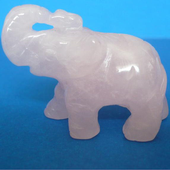 Figurine Elephant Quartz Rose 40x30x18mm La Piece